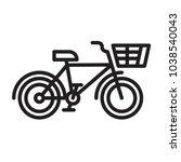 black and white city bike logo...   Shutterstock .eps vector #1038540043