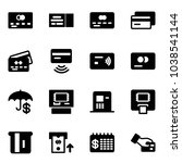 solid vector icon set   credit... | Shutterstock .eps vector #1038541144