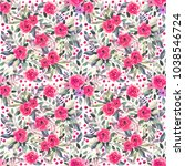 seamless pattern with... | Shutterstock . vector #1038546724
