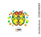 brain symbol. line art icon.... | Shutterstock .eps vector #1038548089