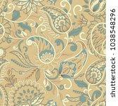 paisley pattern. seamless... | Shutterstock .eps vector #1038548296