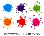 vector color paint splatter...   Shutterstock .eps vector #1038549709
