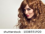 portrait beautiful woman with... | Shutterstock . vector #1038551920