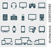 set of vector devices icons | Shutterstock .eps vector #1038553480