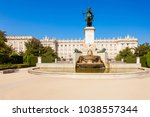 philip iv of spain monument and ... | Shutterstock . vector #1038557344