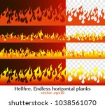 hellfire endless horizontal... | Shutterstock .eps vector #1038561070