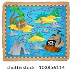 treasure map theme image 3  ... | Shutterstock .eps vector #103856114