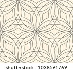 seamless flower pattern on... | Shutterstock . vector #1038561769