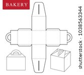 package for bakery | Shutterstock .eps vector #1038563344