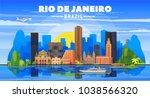 rio de janeiro  brazil  skyline ... | Shutterstock .eps vector #1038566320
