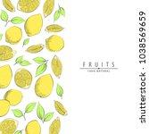 fresh ripe lemon vector... | Shutterstock .eps vector #1038569659
