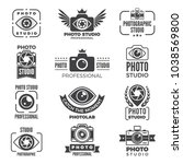 retro pictures and logos for... | Shutterstock .eps vector #1038569800