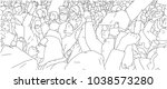illustration of crowd protest ... | Shutterstock .eps vector #1038573280
