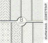 set of vector seamless patterns.... | Shutterstock .eps vector #1038575569