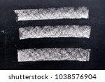 set of grunge white chalk art... | Shutterstock . vector #1038576904