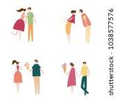 vector illustration of couple... | Shutterstock .eps vector #1038577576
