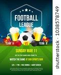 football league tournament... | Shutterstock .eps vector #1038578749