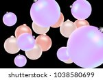 colored christmas balls pattern.... | Shutterstock .eps vector #1038580699