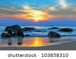 sunset over the sea | Shutterstock . vector #103858310