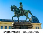 the statue of archduke albrecht ... | Shutterstock . vector #1038583909
