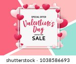 valentine's day love and... | Shutterstock . vector #1038586693