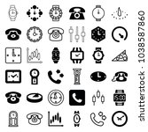 dial icons. set of 36 editable... | Shutterstock .eps vector #1038587860
