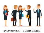 set of businessmen | Shutterstock .eps vector #1038588388