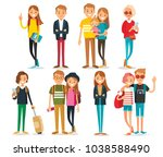 vector set of young style... | Shutterstock .eps vector #1038588490