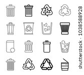 recycling icons. set of 16...   Shutterstock .eps vector #1038588928