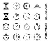 second icons. set of 16... | Shutterstock .eps vector #1038589036