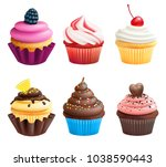 realistic vector illustrations... | Shutterstock .eps vector #1038590443