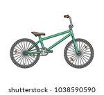 city bmx bicycle. vector... | Shutterstock .eps vector #1038590590