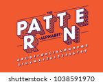 vector of modern abstract font... | Shutterstock .eps vector #1038591970