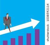 when a business man succeeds ... | Shutterstock .eps vector #1038592114