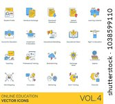 online education vector icons.... | Shutterstock .eps vector #1038599110
