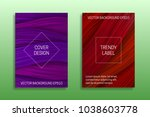 cover templates with volumetric ... | Shutterstock .eps vector #1038603778