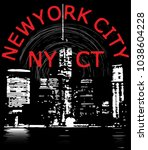 newyork city tee graphic design | Shutterstock .eps vector #1038604228