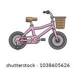 city children bicycle. vector...   Shutterstock .eps vector #1038605626