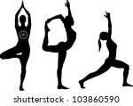 yoga poses   lord of the dance  ... | Shutterstock .eps vector #103860590