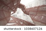 empty smooth abstract room... | Shutterstock . vector #1038607126