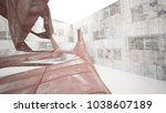 empty smooth abstract room... | Shutterstock . vector #1038607189