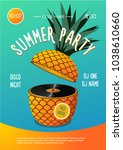 beach party. summer music... | Shutterstock .eps vector #1038610660