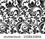 floral pattern. wallpaper... | Shutterstock . vector #1038610846
