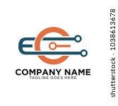 eo or ec electro logo template | Shutterstock .eps vector #1038613678