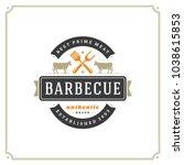 grill restaurant logo vector... | Shutterstock .eps vector #1038615853