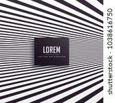 black perspective lines... | Shutterstock .eps vector #1038616750