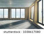 contemporary empty unfurnished... | Shutterstock . vector #1038617080