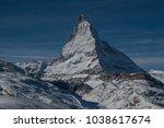 the matterhorn is a mountain of ... | Shutterstock . vector #1038617674