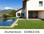 beautiful country house with... | Shutterstock . vector #103862156