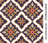 mexican tile pattern vector... | Shutterstock .eps vector #1038622846